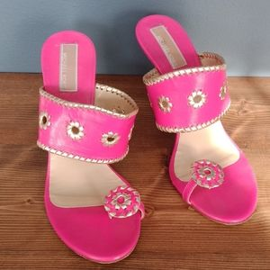 Michael Kors  pink heeled sandals